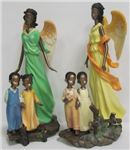 Angel african american w/child asst