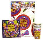 New years napkins, tablecover & cups