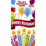 34210 - Invitations happy birthday 8ct