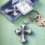 6533 - Keychain cross pewter/expoy