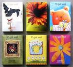 5040-4 - Greeting cards get well 10ct 6 asst