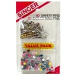 00356 - Sewing Safety Pins & Color Ball Pins Dual Pack Singer