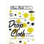 00025 - Drop cloth plastic 9x12ft