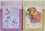 5040-5 - Greeting cards sympathy 10ct 6 asst