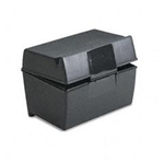 01581 7080 - file-box-5x8-plastic-black