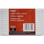 63350 1540 -Index cards ruled 3x5in 100ct