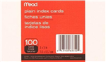 63352 1540 -Index cards plain 100ct 3x5in