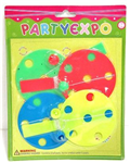 03117 - Party expo paddle balls 4pc